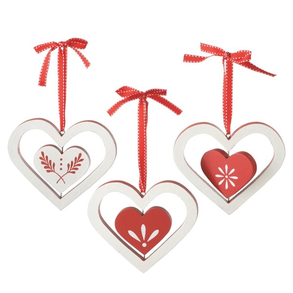 midwest wooden heart ornaments 111793