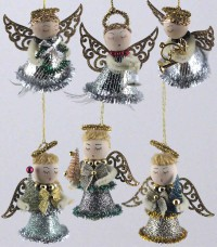 Katherine's Collection Vintage Bell Angel Ornaments