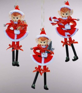 Katherine's Collection Retro Stick Pixie Ornament