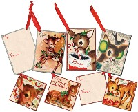 Christmas Deer Gift Tags Ornaments