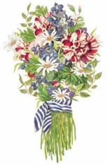 Mary Lake-Thompson Linen Garden Bouquet Guest Towel Set