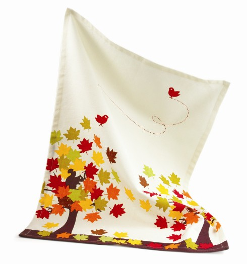 tag Falling Leaves Dishtowel