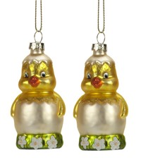 Chick In Egg Ornament Set