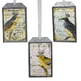 Bird  With Crowns Tag Ornaments