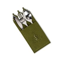 Christmas Tree Edge Cutlery Pocket Set