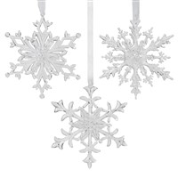 Clear 3D Snowflake Ornament