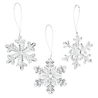 Mini Clear Snowflake Ornaments