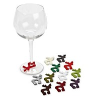 Reindeer Wine Charms