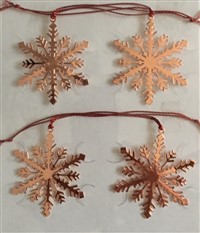 Set of Four Mini Snowflake Ornaments