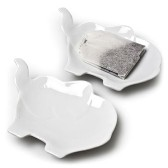 Porcelain Elephant Tea Bag Holder