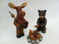 Blossom Bucket Bear & Moose Campfire