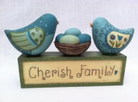 Blossom Bucket Cherish Family Birds & Nest