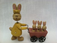 Blossom Bucket Momma Bunny w/ Baby Carriage