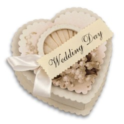 Bethany Lowe Wedding Day Heart Container