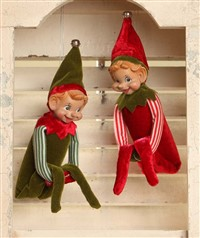 Bethany Lowe Retro Elf Tree Huggers