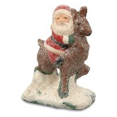 Bethany Lowe Santa On Reindeer Figure