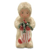 Bethany Lowe Snowbaby With Stocking