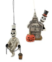 Bethany Lowe Skeleton Ornaments
