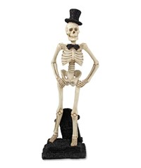 Bethany Lowe Skeleton With Glitter Top Hat
