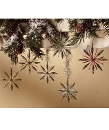 Bethany Lowe Vintage Wired Snowflake Ornaments