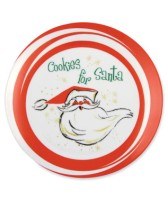 Bethany Lowe Retro Santa Cookie Plate