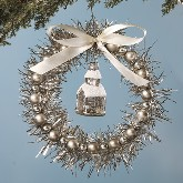 Bethany Lowe Silver Wreath Ornament