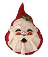 Bethany Lowe Retro Santa Pillow
