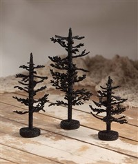 Bethany Lowe Halloween Sparse Glitter Tree Set