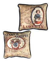 Bethany Lowe Americana Vintage Image Pillows
