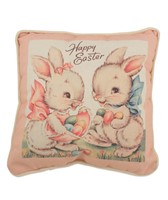 Bethany Lowe Sweet Easter Bunnies Pillow