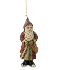 Bethany Lowe Red Santa with Bag Ornament by Pam Schifferl