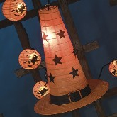 Bethany Lowe Witch Hat Paper Lantern