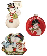 Bethany Lowe Retro Snowmen Dummy Boards