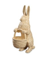 Bethany Lowe Glittered Rabbit With Basket