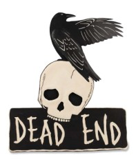 Bethany Lowe Dead End Tin Sign