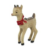 Bethany Lowe Retro Red Nosed Reindeer Ornament
