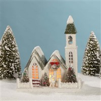 Bethany Lowe Vintage Putz Christmas Church Medium