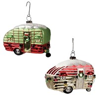 Bethany Lowe Retro Trailer Glass Ornament