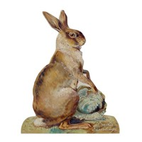 Bethany Lowe Rabbit With Cabbage Dummy Board
