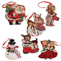 Bethany Lowe Retro Christmas Dummyboard Ornaments