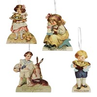Bethany Lowe Spring Children Dummy Board Ornaments