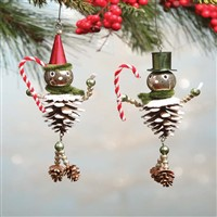 Bethany Lowe Flea Market Pinecone Man Ornaments