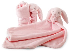 Jellycat Pink Bashful Baby Bunny Soother
