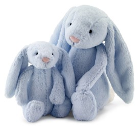 Jellycat Blue Bashful Baby Bunny Rattle