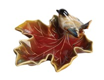 Maple Leaf Dish w/ Bird