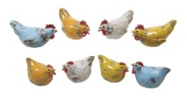 Bright Ceramic Chicken Figures