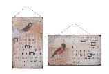 Perpetual Calendar Sign Bird Design