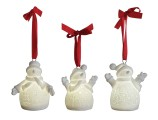 Ceramic Snowman LED Ornament