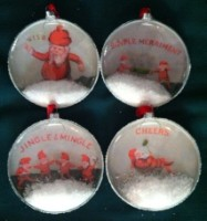 Creative Co-op Round Glass Elf Ornament