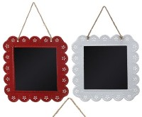 Creative Co-op Metal Square Chalk Hanging